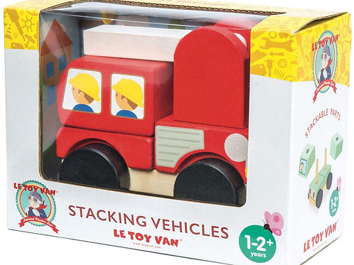 Le Toy Van Wooden Fire Engine Stacker Toy With Ladder