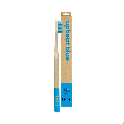 F.E.T.E  Bamboo Toothbrush : Medium : Upbeat Blue