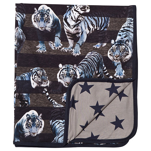 Molo Niles Blue Tigers Blanket