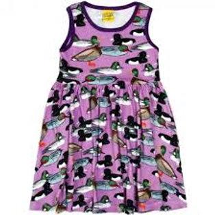Duns Purple Ducks Sleeveless twirl/gather dress