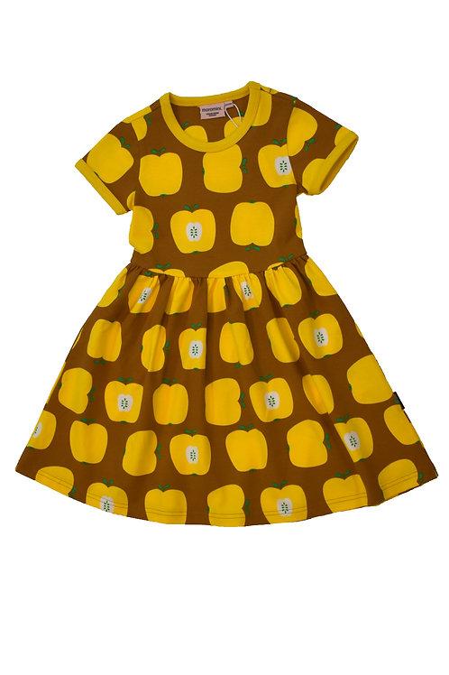 Moromini Yellow Apple short sleeved twirly dress