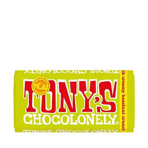 Tonys Chocolonely Milk Creamy Hazelnut crunch 32% 180g