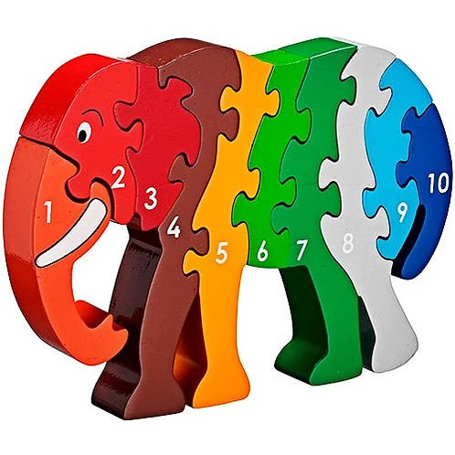 Lanka Kade Colourful Elephant 1-10 Jigsaw