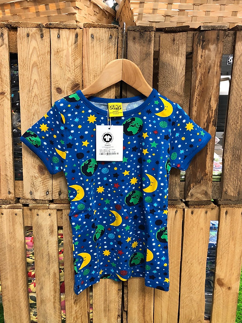 Duns Mother Earth Blue Short Sleeved top