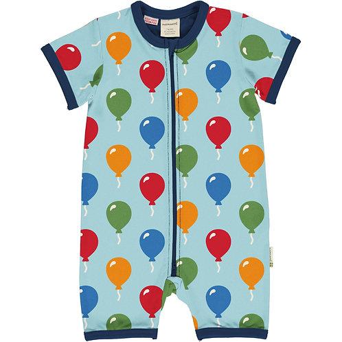 Maxomorra Balloon Short Zip Rompersuit