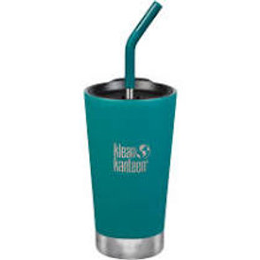 Klean Kanteen Insulated Tumbler 16oz (473ml) with Straw Lid Emerald