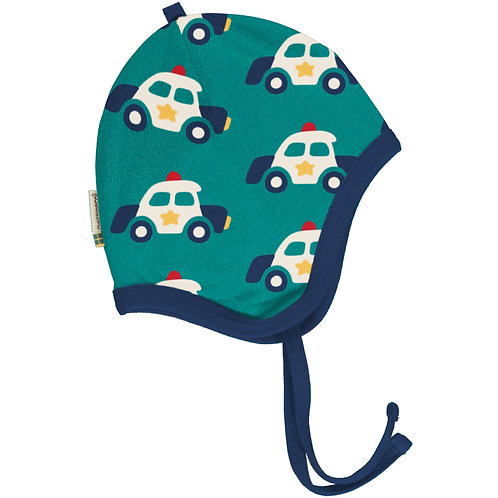 Maxomorra Police Car velour Helmet Hat