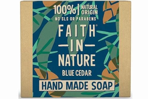 Faith In Nature Wrapped Soap - Blue Cedar - 100g