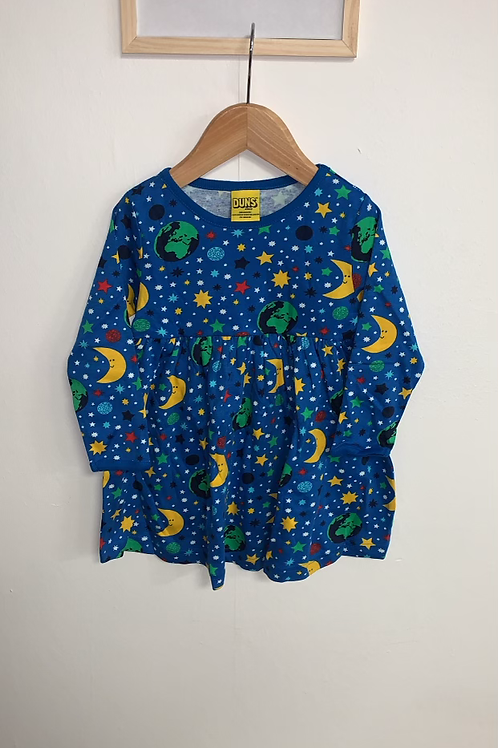 Duns Mother Earth Blue Long Sleeved Dress