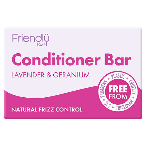 Friendly Soap Lavender & Geranium Conditioner Bar - 95g