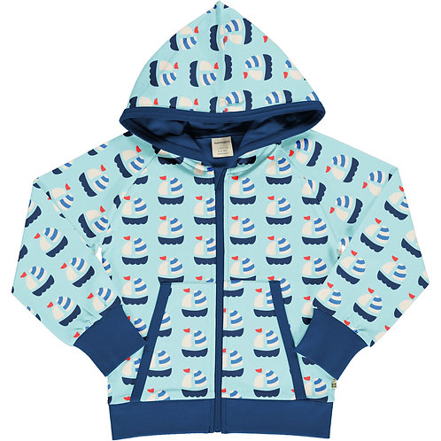 Maxomorra Sailboat Hooded jacket/cardigan