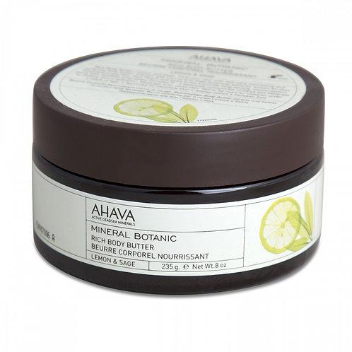 AHAVA Mineral Botanic Rich Body Butter - Lemon and Sage