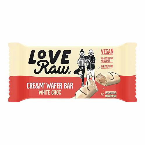 Love Raw Vegan White Chocolate Cre&m Wafer 44g