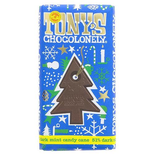 Tonys Chocolonely Dark Chocolate Mint Candy Cane 51%