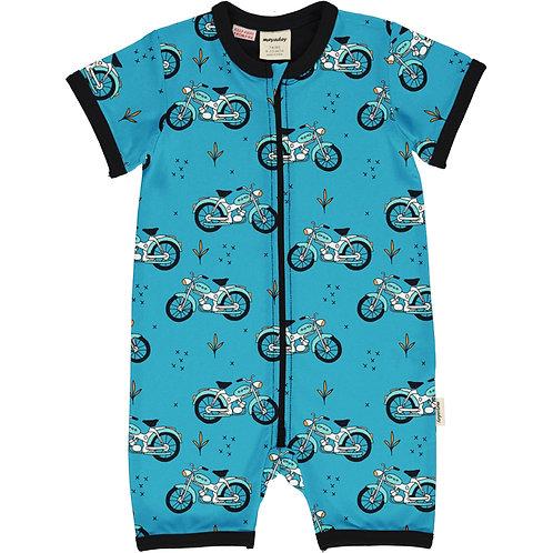 Meyadey  Cool Biker Summer zip suit