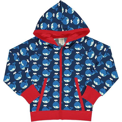 Maxomorra Hooded jacket/cardigan Whale
