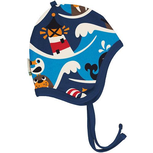 Maxomorra Ocean Velour Lined Helmet Hat