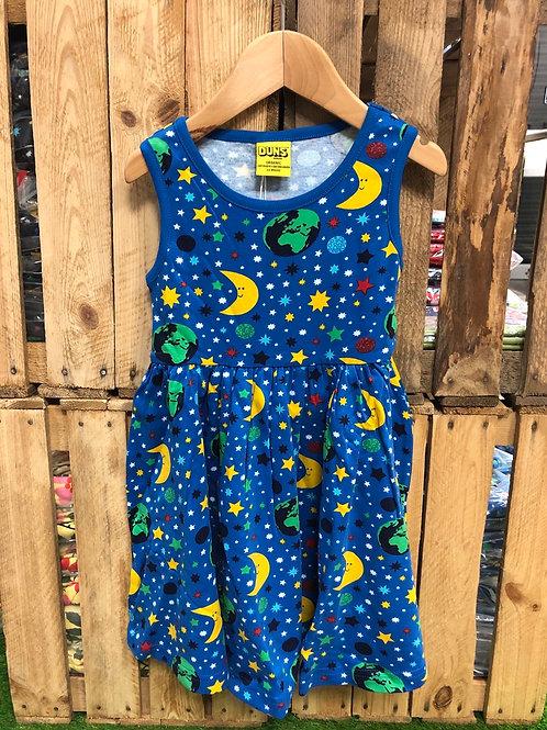 Duns Mother Earth Blue Sleeveless Gather Dress