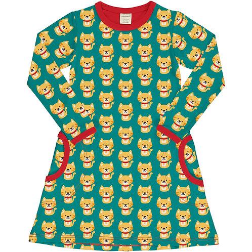 Maxomorra Cat Long Sleeved Dress