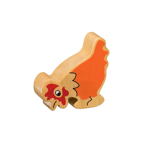 Lanka Kade Natural Painted Orange Hen