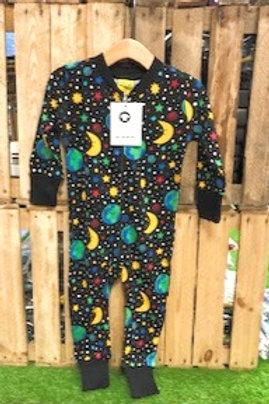 Duns Mother Earth Black Zip Romper Suit
