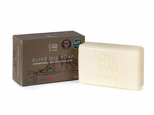 Little Soap Company Pure Olive Oil Soap – Unperfumed for Sensitive Skin 100g