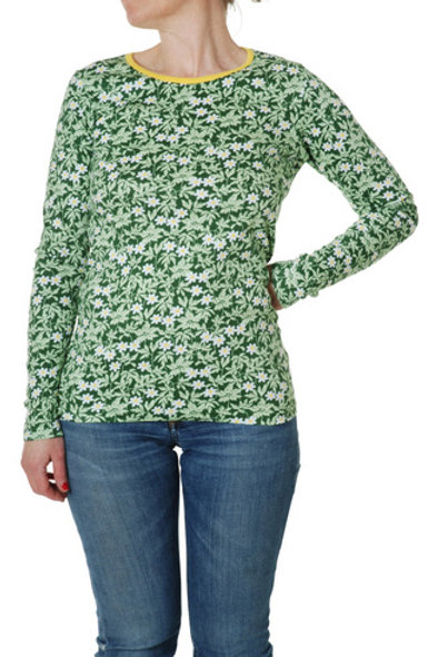 Duns Adult Wood Anemone Green Long Sleeved top