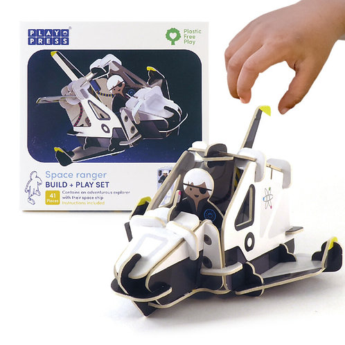 Play Press Spaceship and Space Ranger Eco Friendly Playset