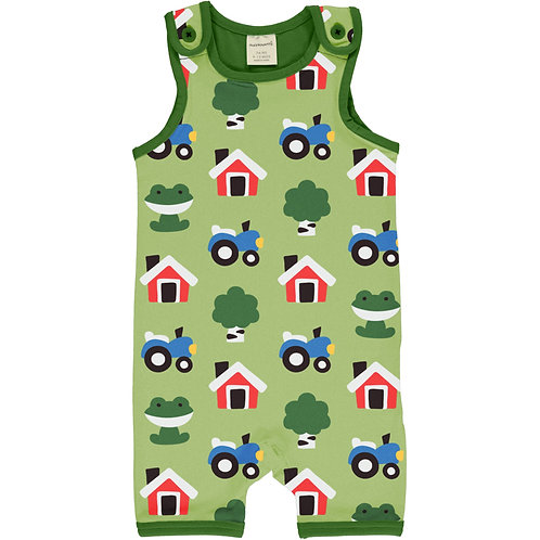 Maxomorra Forest Farm Short Playsuit/dungarees