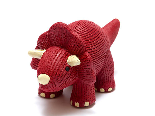 My First Natural Rubber Triceratops Teether