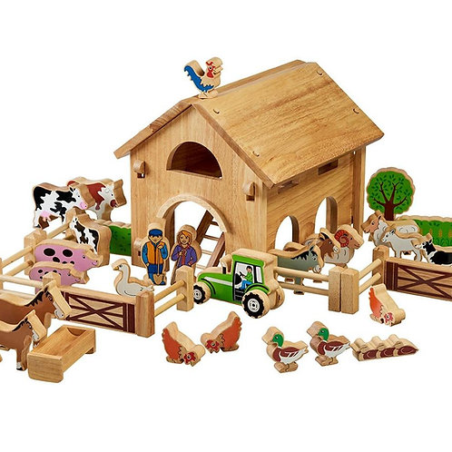 Lanka Kade Deluxe Farm Barn Set with colourful characters