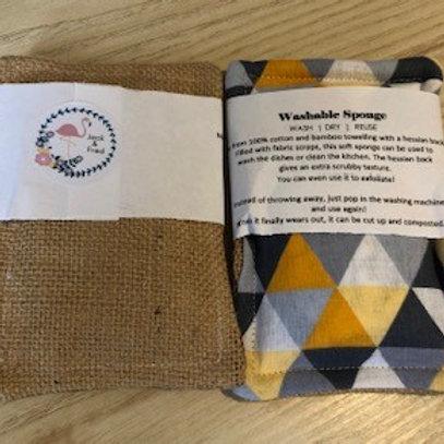Reusable Sponge Hessian Backed