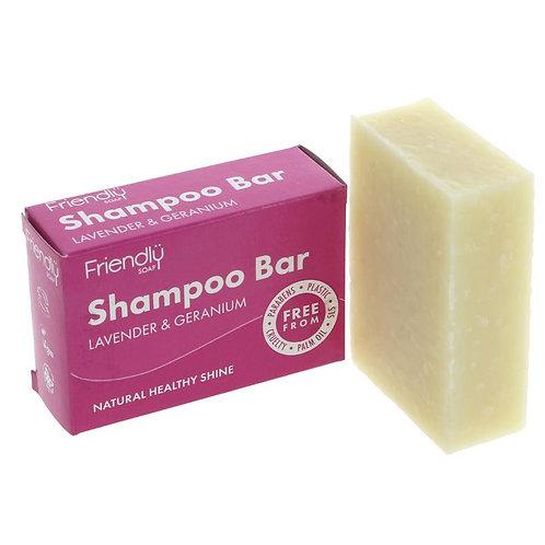 Friendly Soap Shampoo Bar-Lavender &Geranium - 95g