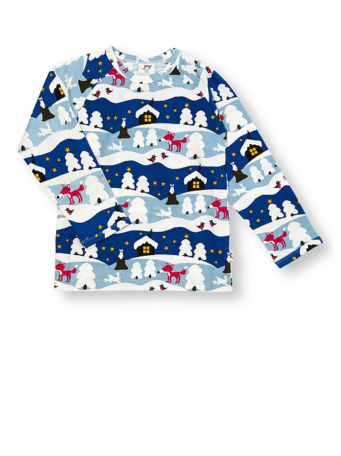 JNY Snowy Cottage Long Sleeved Top