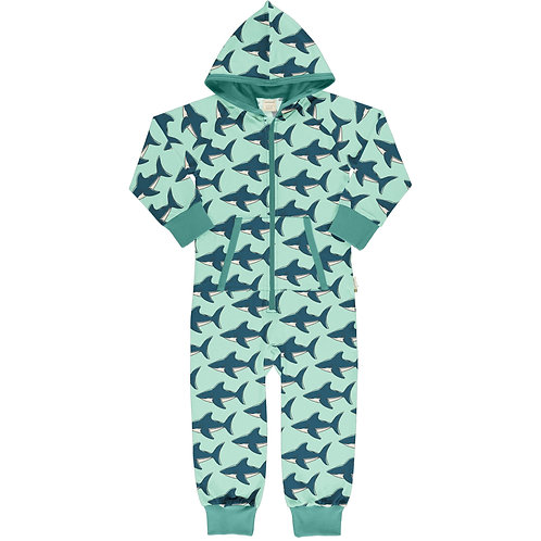 Maxomorra Shark Hooded Onepiece suit