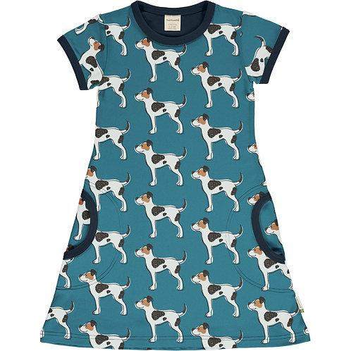 Maxomorra Farm Dog Short Sleeved Dress