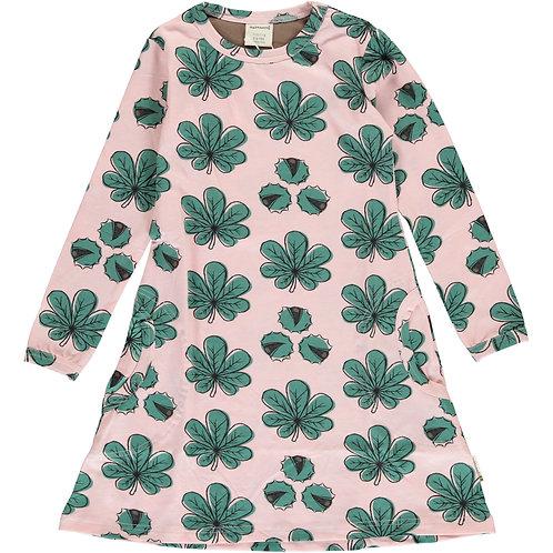Maxomorra Chestnut Leaf Long Sleeved Dress