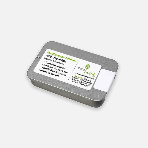 Eco Living toothpaste tablets with fluoride with tin