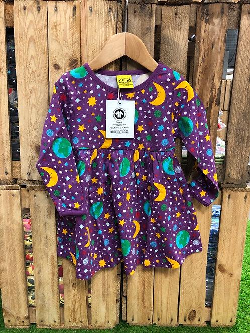 Duns Mother Earth Violet Long Sleeved Dress