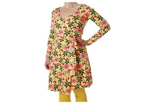 Duns Rosehip Yellow Long Sleeved Wrap Dress