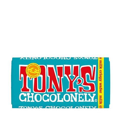 Tonys Chocolonely Milk Crispy wafer 32% 180g,