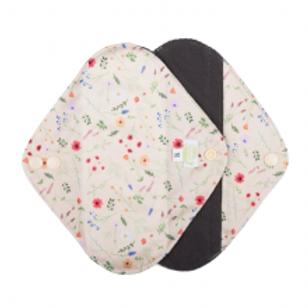 Baba + Boo Reusable Sanitary Pads - 2 Pack Wild Flowers medium