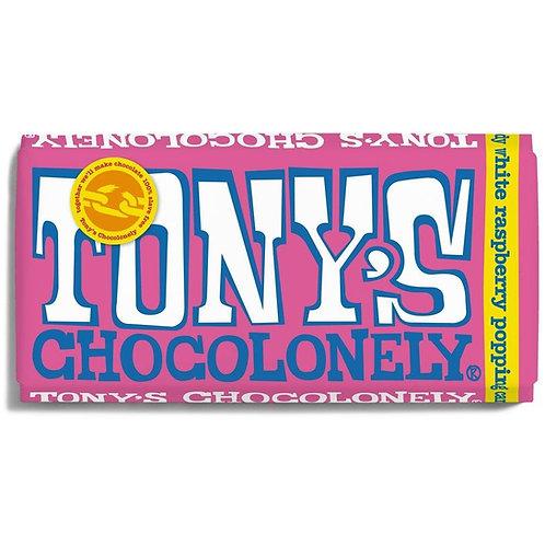 Tonys Chocoloney : White Raspberry Popping Candy