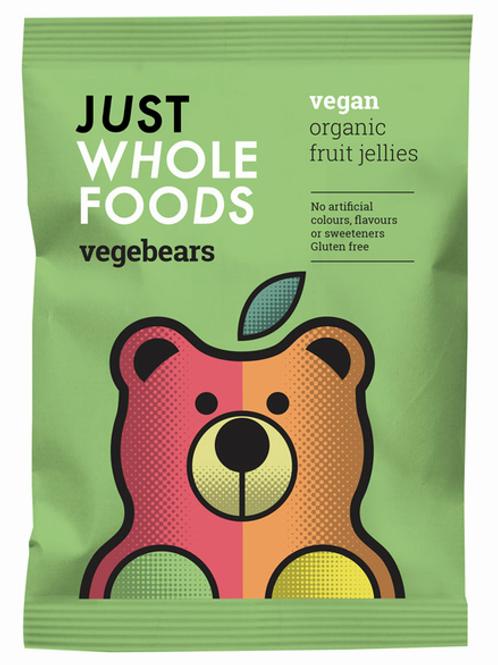 Just Wholefoods Vegebears, Organic, Vegan - 100g