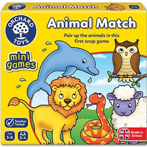 Animal Match Mini Game Orchard toys