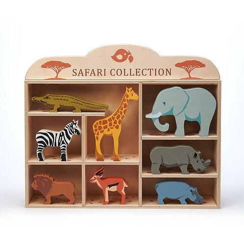 Tender Leaf 8 Safari Animals & Shelf
