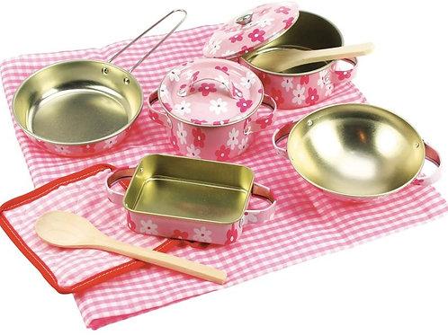 Bigjigs Toys Pink Kitchenware Set (11 Pieces)
