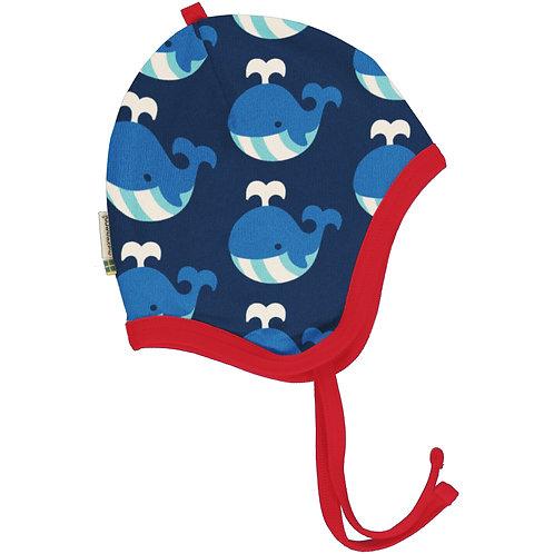 Maxomorra Whale velour Helmet Hat
