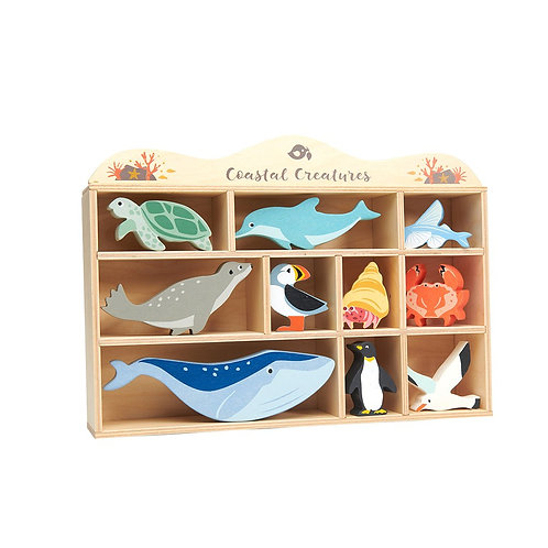 Tender Leaf 10 Sea creatures and animals plus Shelf
