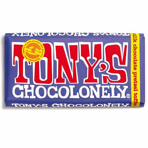 Tonys Chocoloney : Dark Milk Pretzel Toffee